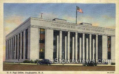 US Post Office - Binghamton, New York NY Postcard