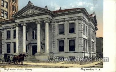 Binghamton Public Library - New York NY Postcard