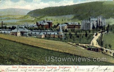 State Hospital - Binghamton, New York NY Postcard