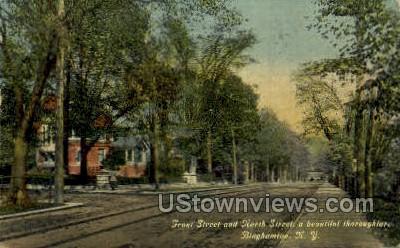 Front Street - Binghamton, New York NY Postcard