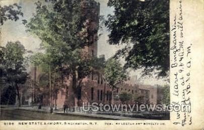 New State Armory - Binghamton, New York NY Postcard
