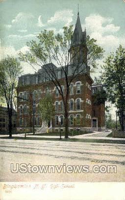 High School - Binghamton, New York NY Postcard