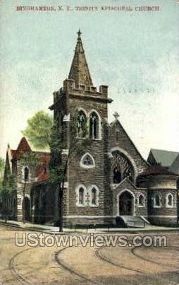 Trinity Episcopal Church - Binghamton, New York NY Postcard