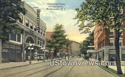 Chenango Street Looking North - Binghamton, New York NY Postcard