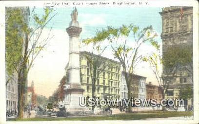 Court House Steps - Binghamton, New York NY Postcard