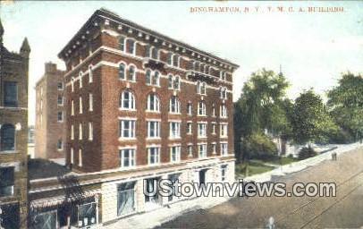 YMCA Building - Binghamton, New York NY Postcard