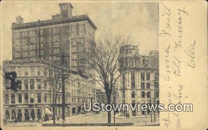 Corner Chenango & Court House - Binghamton, New York NY Postcard