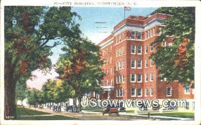 City Hospital - Binghamton, New York NY Postcard