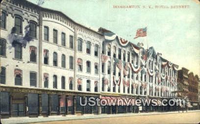 Hotel Bennett - Binghamton, New York NY Postcard