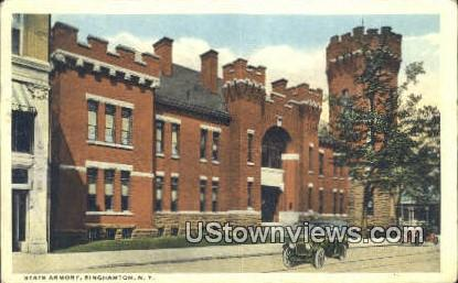 State Armory - Binghamton, New York NY Postcard