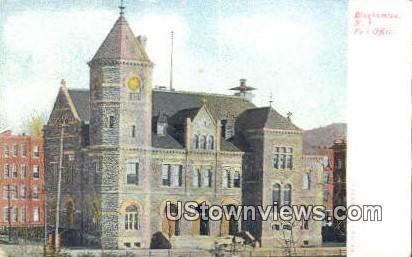 Post Office - Binghamton, New York NY Postcard