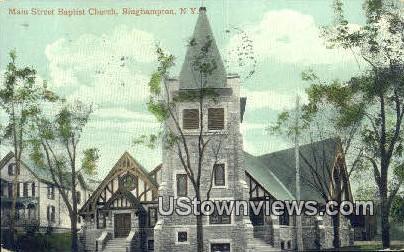 Main Street Baptist Church - Binghamton, New York NY Postcard