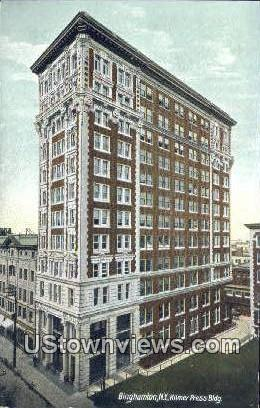 Kilmer Press Bldg - Binghamton, New York NY Postcard