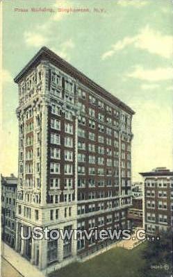 Press Building - Binghamton, New York NY Postcard