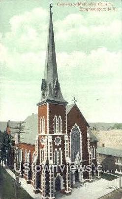 Centenary Methodist Church - Binghamton, New York NY Postcard