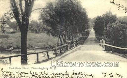 East Main Street - Bloomingburg, New York NY Postcard