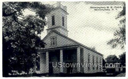 Bloomingburg M.E. Church - New York NY Postcard
