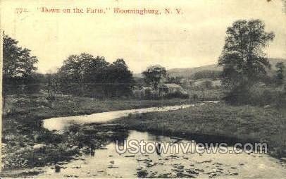 Down on the Farm - Bloomingburg, New York NY Postcard