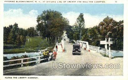Liberty Highway - Bloomingburg, New York NY Postcard