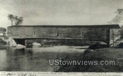 Reproduction Old Bridge - Bridgeville, New York NY Postcard