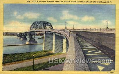 Niagara River - Buffalo, New York NY Postcard