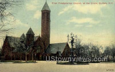 First Presbyterian Church - Buffalo, New York NY Postcard