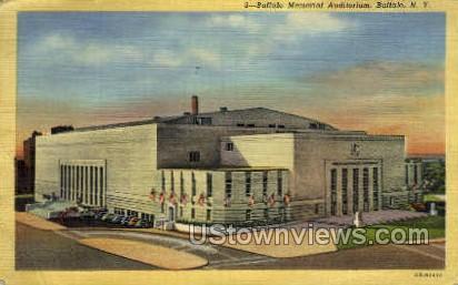Memorial Aud - Buffalo, New York NY Postcard