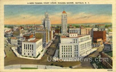 Court House - Buffalo, New York NY Postcard