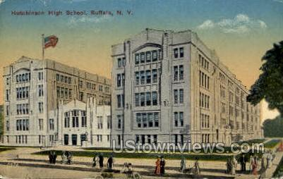 Hutchinson High School - Buffalo, New York NY Postcard