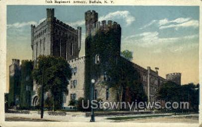 Regiment Armory - Buffalo, New York NY Postcard