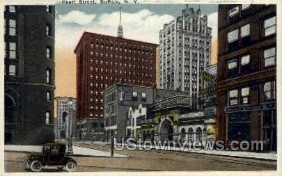 Pearl Street - Buffalo, New York NY Postcard