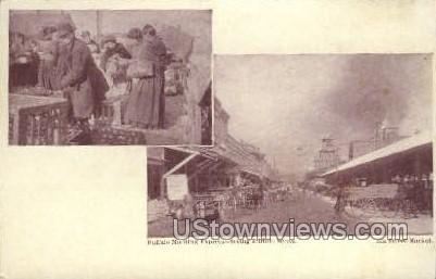 Elk Street Market - Buffalo, New York NY Postcard