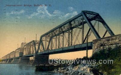 International Bridge - Buffalo, New York NY Postcard