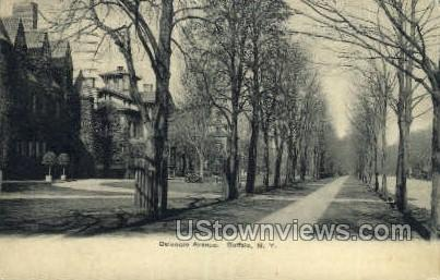 Delaware Ave - Buffalo, New York NY Postcard