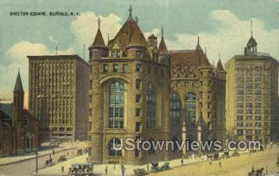 Shelton Square - Buffalo, New York NY Postcard