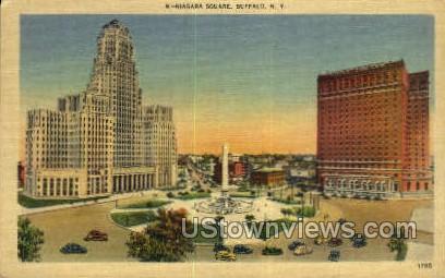 Niagara Square - Buffalo, New York NY Postcard