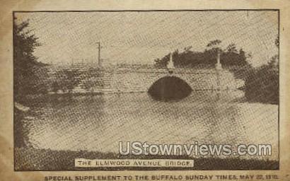 Elmwood Ave Bridge - Buffalo, New York NY Postcard