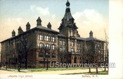 Lafayette High School - Buffalo, New York NY Postcard