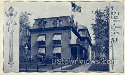 B.P.O. Elks Temple - Buffalo, New York NY Postcard