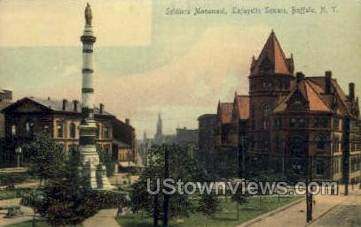 Soldiers Monument - Buffalo, New York NY Postcard