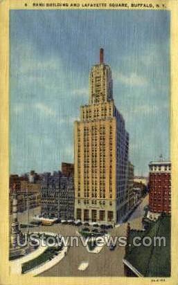 Lafayette Square - Buffalo, New York NY Postcard