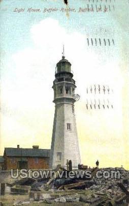 Light House - Buffalo, New York NY Postcard