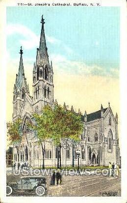 St Joseph's Cathedral - Buffalo, New York NY Postcard