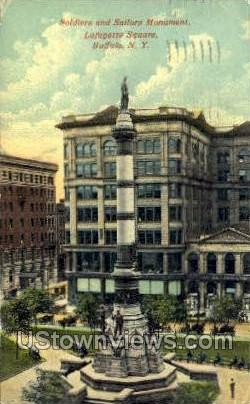 Soldiers & Sailors Monument - Buffalo, New York NY Postcard