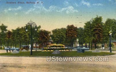 Soldier Place - Buffalo, New York NY Postcard