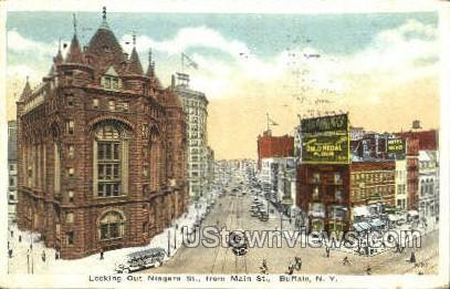 Niagara Street - Buffalo, New York NY Postcard