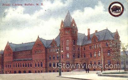 Public Library - Buffalo, New York NY Postcard