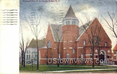 M.E. Church - Buffalo, New York NY Postcard