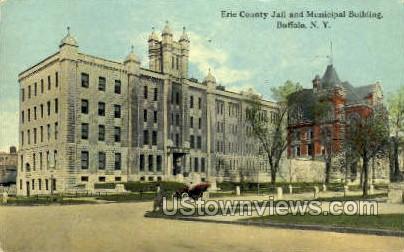 Erie County Jail - Buffalo, New York NY Postcard