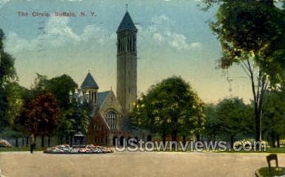 The Circle - Buffalo, New York NY Postcard